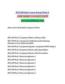 HCS 449 MART  Motivated Minds/hcs449mart.com