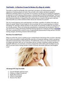 TruVitaliti – A Flawless Cream To Reduce Eye Bags & wrinkle