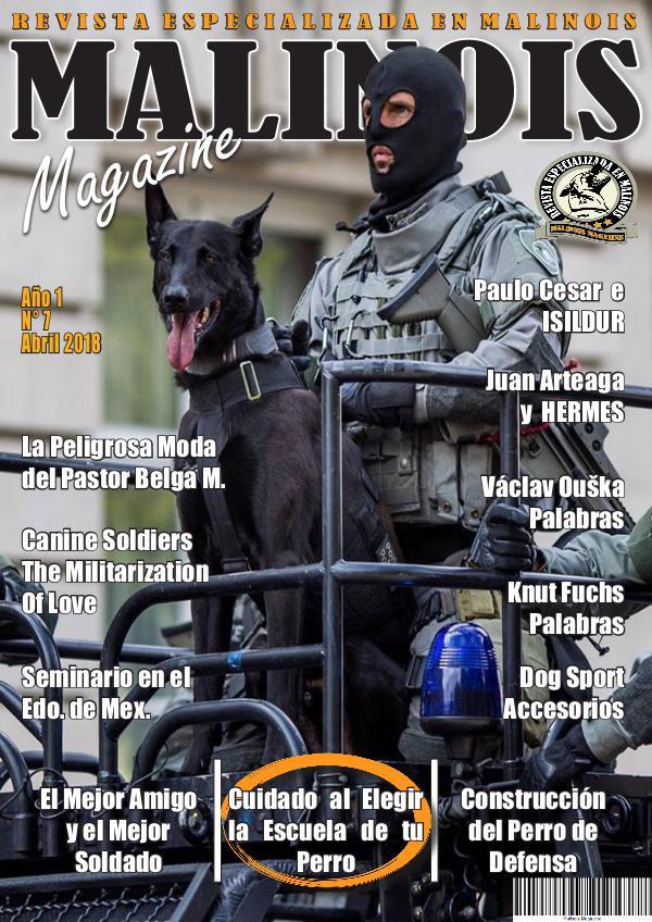 MALINOIS MAGAZINE Malinois Magazine Abril 2018