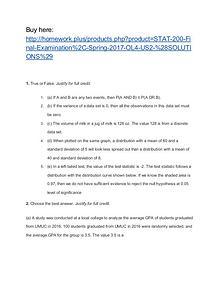 STAT 200 Final Examination, Spring 2017 OL4 US2
