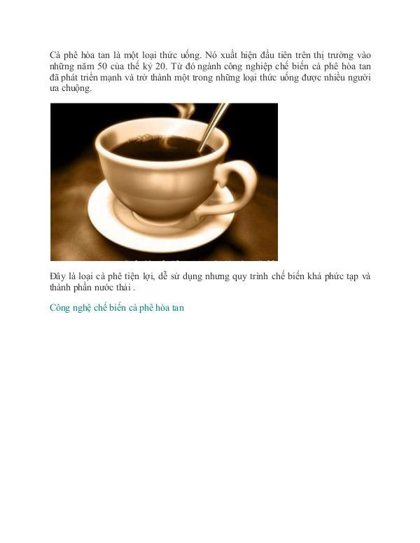 Quy trình xử lý nước thải chế biến cà phê