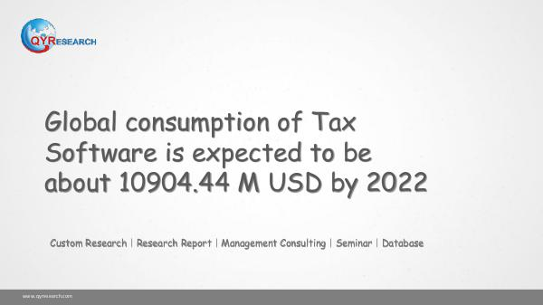 Global Tax Software Market Research
