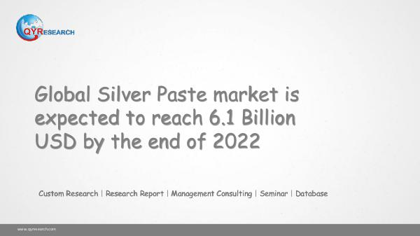 QYR Market Research Global Silver Paste market research