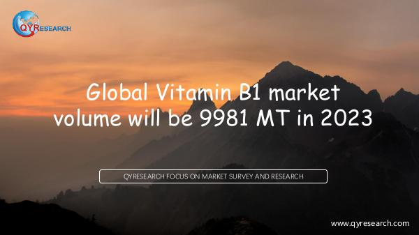QYR Market Research Global Vitamin B1 market research