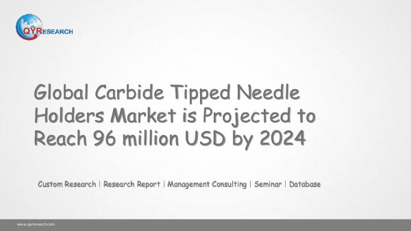 QYR Market Research Global Carbide Tipped Needle Holders Market