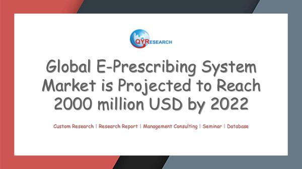 QYR Market Research Global E-Prescribing System Market Research