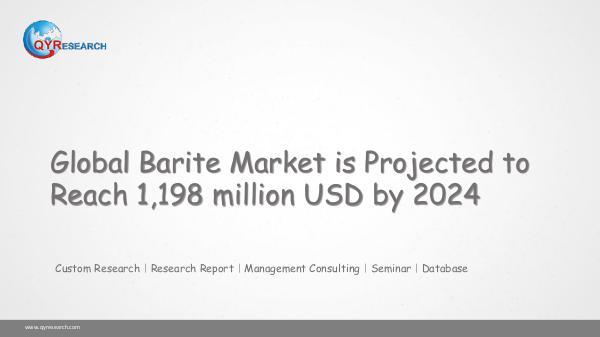 Global Barite Market Research