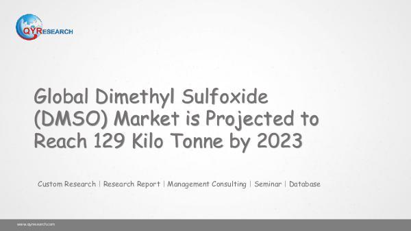 Global Dimethyl Sulfoxide (DMSO) Market Research