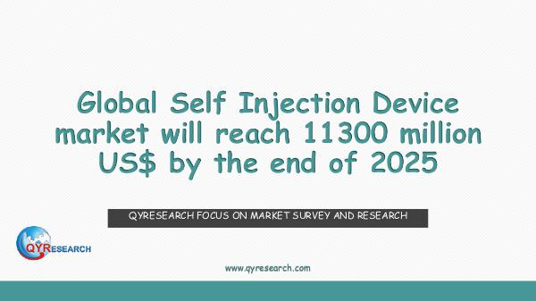 Global Self Injection Device market research
