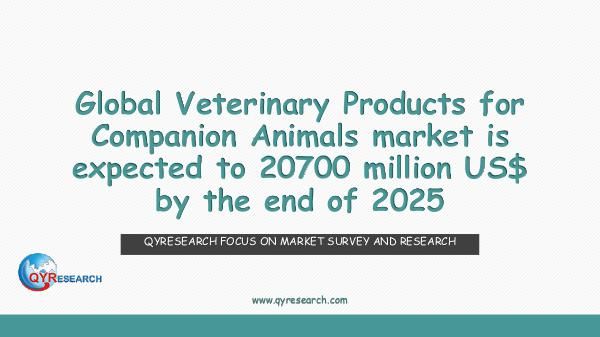 QYR Market Research Veterinary Products for Companion Animals market