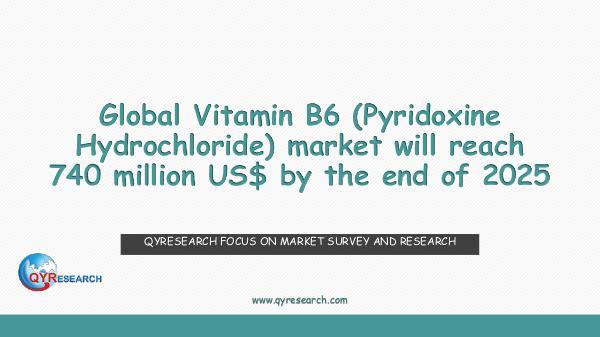 Vitamin B6 (Pyridoxine Hydrochloride) market