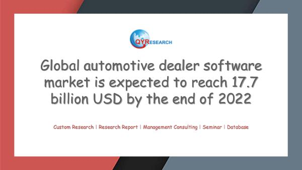 QYR Market Research Global automotive dealer software market research