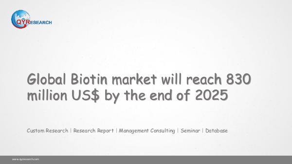 QYR Market Research Global Biotin market research