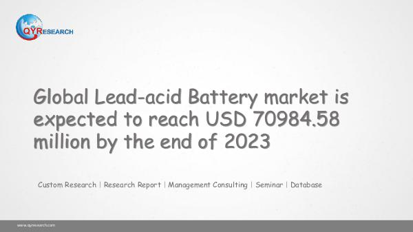 QYR Market Research Global Lead-acid Battery market research