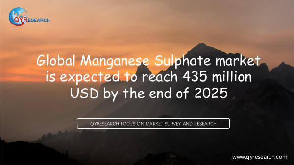 Global Manganese Sulphate market research