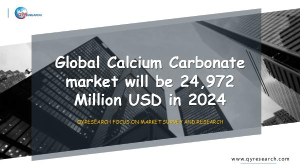 Global Calcium Carbonate market research