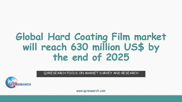 Global Hard Coating Film market research