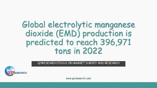 QYR Market Research Global electrolytic manganese dioxide (EMD)