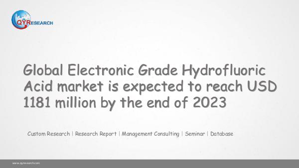 Global Electronic Grade Hydrofluoric Acid market
