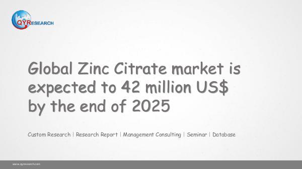 Global Zinc Citrate market research