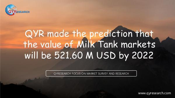 Global Milk Tank Market Research