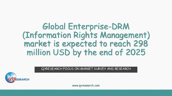 QYR Market Research Global Enterprise-DRM (Information Rights Manageme
