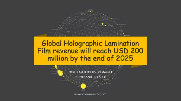QYR Market Research Global Holographic Lamination Film market research