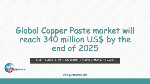 Global Copper Paste market research