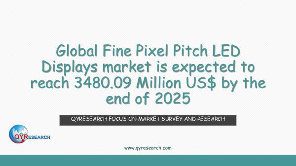 Global Fine Pixel Pitch LED Displays market