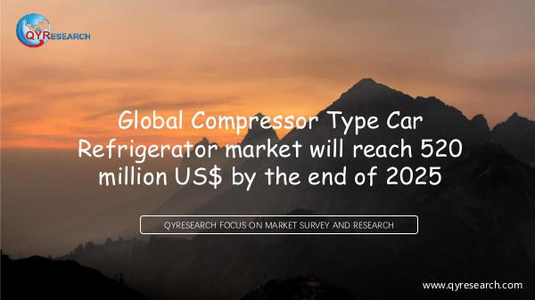 QYR Market Research Global Compressor Type Car Refrigerator market