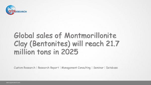 QYR Market Research Global Montmorillonite Clay (Bentonites) Market