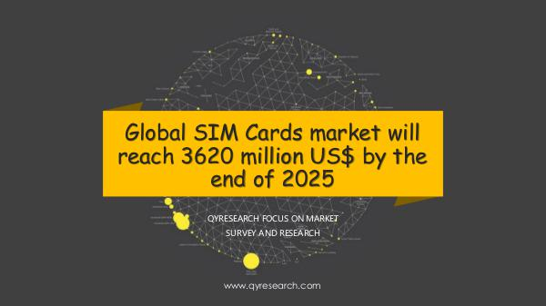 QYR Market Research Global SIM Cards market research