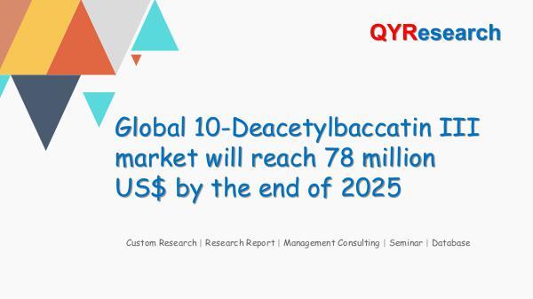 QYR Market Research Global 10-Deacetylbaccatin III market research