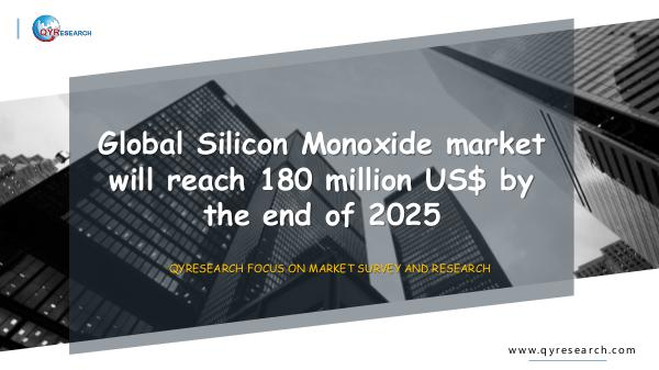 Global Silicon Monoxide market research