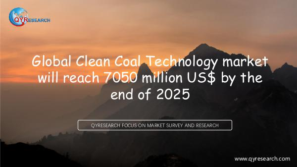 Global Clean Coal Technology market research