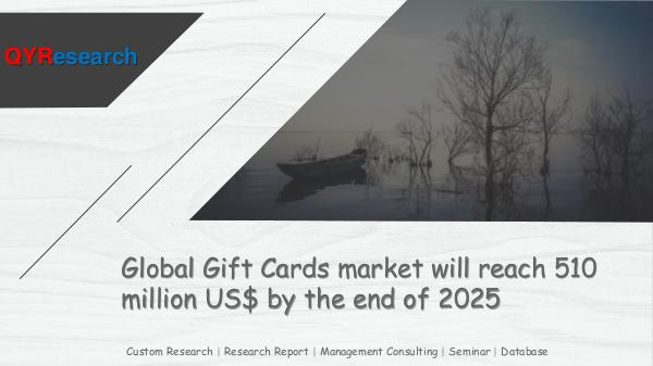 Global Gift Cards market research