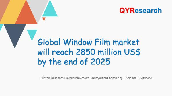 QYR Market Research Global Window Film market research