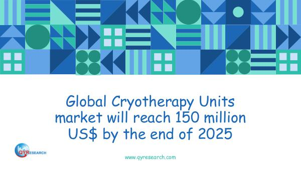 Global Cryotherapy Units market research