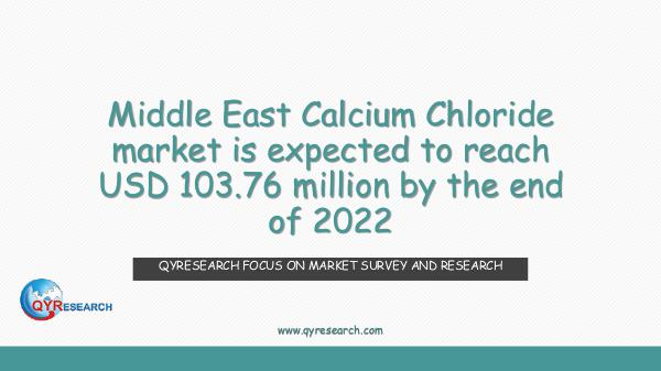 Middle East Calcium Chloride market research