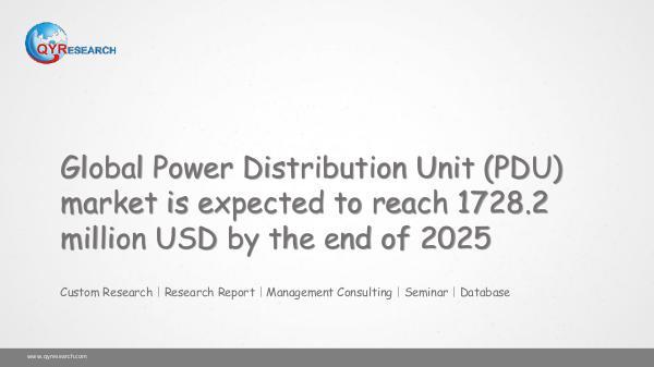 QYR Market Research Global Power Distribution Unit (PDU) market