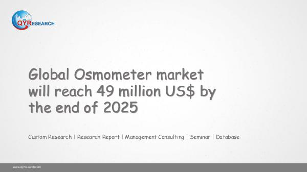 Global Osmometer market research