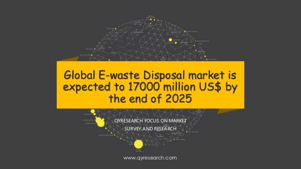 Global E-waste Disposal market research