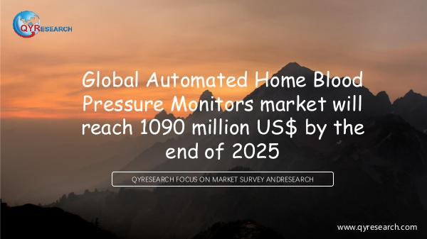 QYR Market Research Automated Home Blood Pressure Monitors marketing