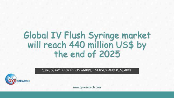 Global IV Flush Syringe market research