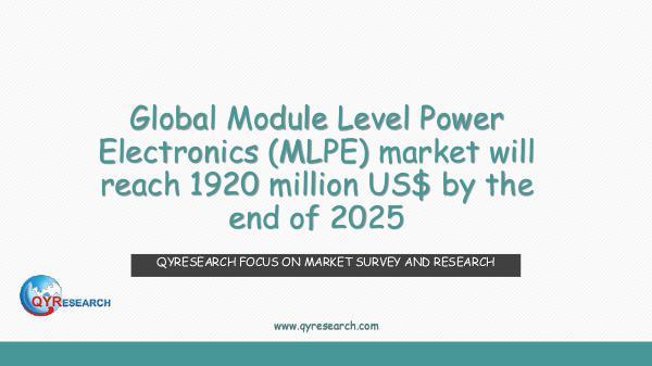 Global Module Level Power Electronics market