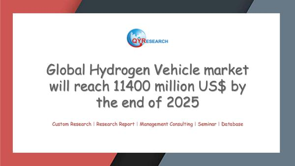 Global Hydrogen Vehicle market research