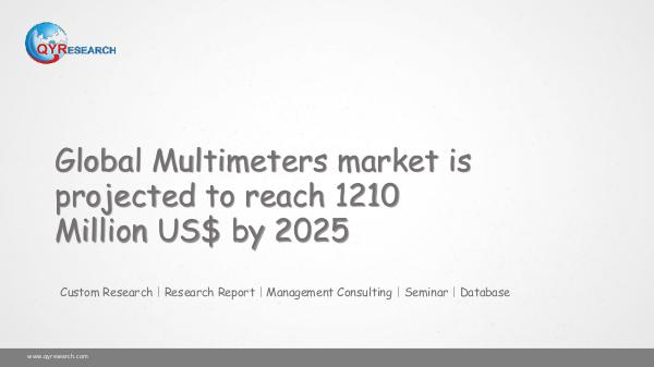 QYR Market Research Global Multimeters market research