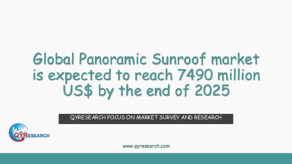 Global Panoramic Sunroof market research