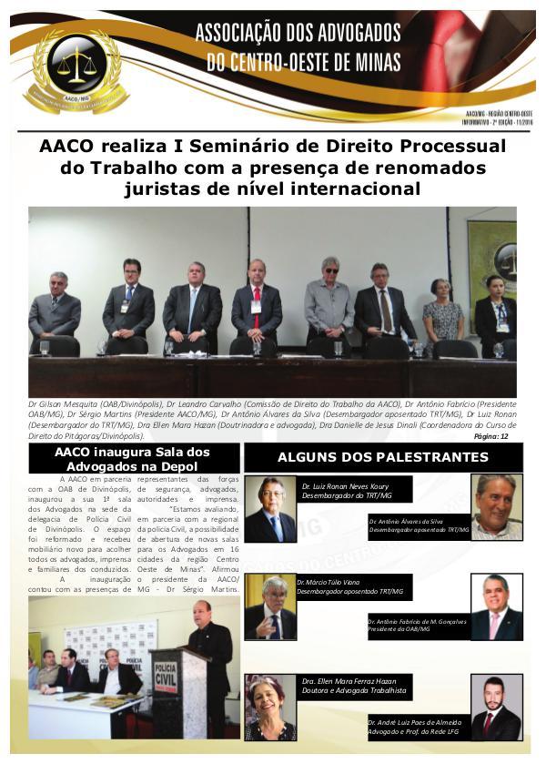 Informativo AACO - 2ª Edição edição
