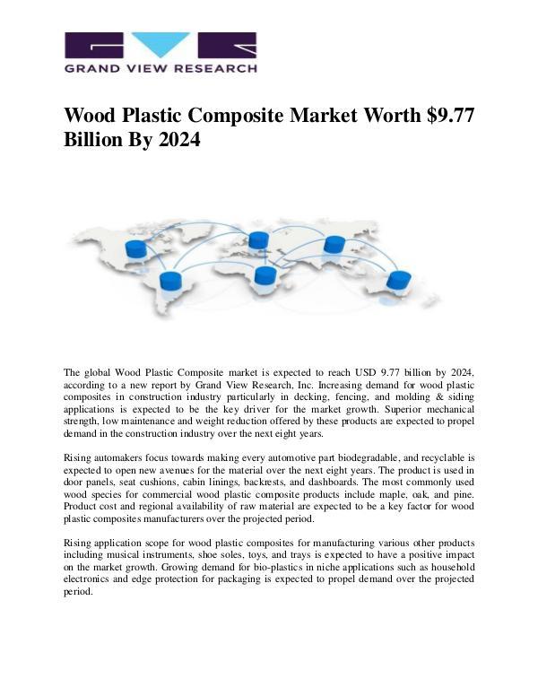 Wood Plastic Composite Market Worth $9.77 Billion By 2024 Wood Plastic Composite Market